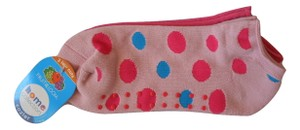 Fruit of the Loom Fruit Of The Loom Candy Pink, Hot Pink Polka Dot Cozier Slipper Socks