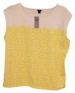 Ann Taylor T Shirt Cream and yellow