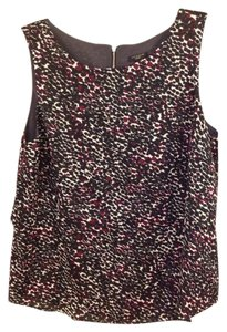 Ann Taylor Top Black, maroon and cream
