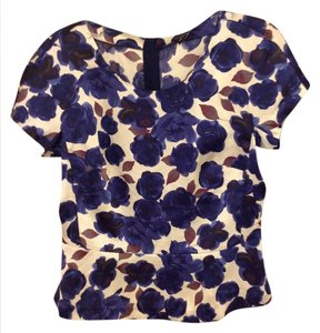 Ann Taylor Top Cream and navy