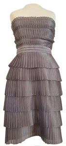 Calvin Klein Pleated Fit And Flare Sculptural Strapless Party Dress
