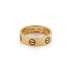Cartier Cartier Love 18k Rose Gold 5.5mm Wide Band Ring Size 53- US 6.5