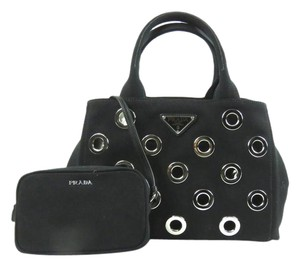Prada Canvas Tote in Black (Nero)