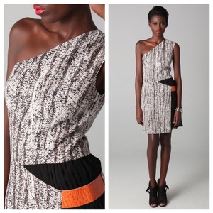 Sachin + Babi Night Out Date Night One Shoulder Animal Print Snakeskin Dress