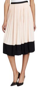 Kate Spade Pleated Crepe Pink And Black Office Skirt