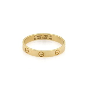 Cartier Cartier Mini Love 18k Yellow Gold 3.5mm Ring Band Size EU 64-US 11
