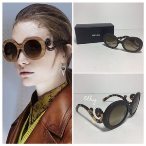 Prada PRADA BAROQUE 55MM WOODEN SUNGLASSES