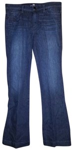 7 For All Mankind Trouser Business To Casual Comfortable Chic Trouser/Wide Leg Jeans-Dark Rinse