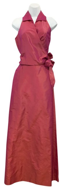 Item - Iridescent Taffeta Silk Skirt Set 2 Long Cocktail Dress Size 4 (S)