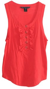 Marc by Marc Jacobs Buttons Summer Ruffles Top Red