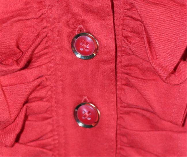 Marc by Marc Jacobs Buttons Summer Ruffles Top Red Image 1