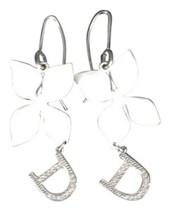 Dior Galliano Girly Line White Flower Earrings
