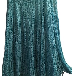 Willi Smith Maxi Skirt aqua
