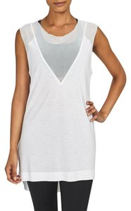 NeshNYC Mesh Athleisure Top White