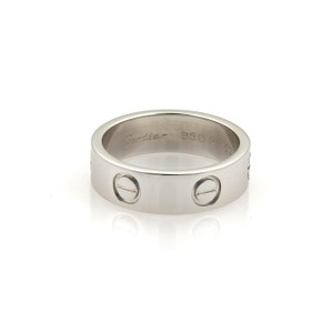 Cartier Cartier Love Platinum 5.5mm Wide Ring Band Size EU 52 - US 6 w/Cert.