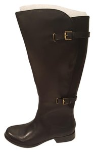 Naturalizer Riding Leather Wide Shaft Black Boots