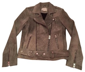IRO Grayish Leather Jacket