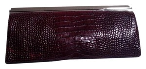 Ann Taylor Dark Red Clutch