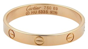 Cartier Cartier Mini Love 18k Rose Gold 3.5mm Band Ring Size EU 69-US 12.5