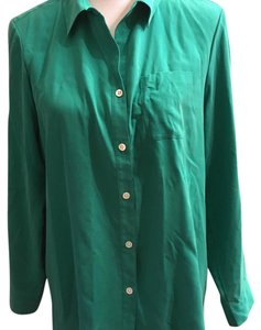 J. Jill Button Down Shirt green