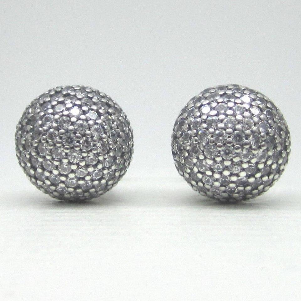 9b8c6ddae PANDORA Clear Cubic Zirconia Pave Drops Double Sided Earrings Image 4. 12345