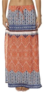 Auguste The Label Print Maxi Skirt Red Wonder