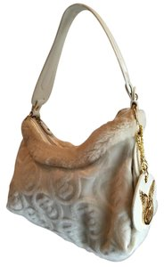 Rocawear White Faux Fur Shoulder Bag