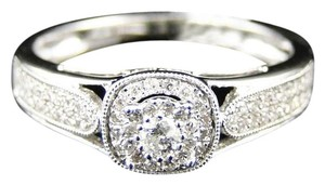Other 14K White Gold Round Diamond Solitaire Bridal Engagement Ring .27 Ct