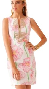 Lilly Pulitzer short dress White, pink, green, gold on Tradesy