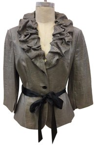 Adrianna Papell Evening Formal Silver Jacket
