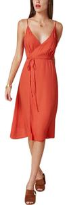 persimmon Maxi Dress by reformation Talia Persimmon wrap dress
