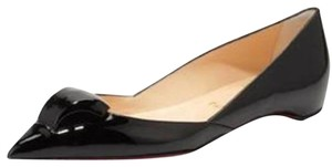 Christian Louboutin Ballerina Door Knock Suede Corazon Black Flats