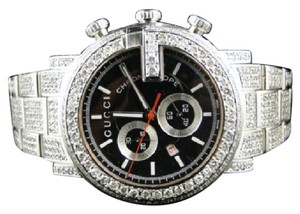 Gucci Fully Iced Out Mens Diamond Gucci Ya101324 Watch 16.5 Ct