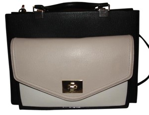 Kate Spade Tri-toned Leather Satchel in Black and White