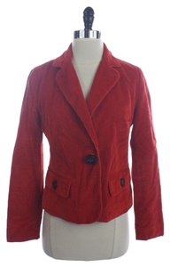 Talbots Corduroy One Button Jacket Red Blazer