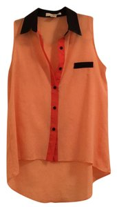 Sans Souci Top Orange/Black