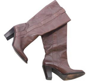 Banana Republic Leather Knee High Pull On Brown Boots