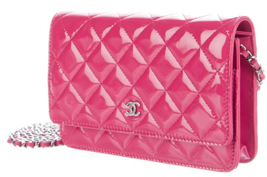 Chanel Wallet Chain Woc Patent Cross Body Bag Image 1