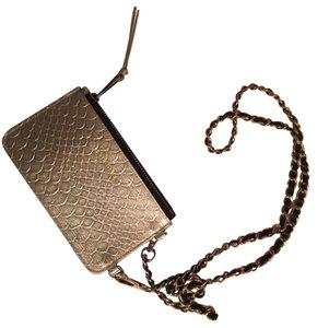 Bandolier iPhone pouch Bandolier Pouch with silver and black cross body chain