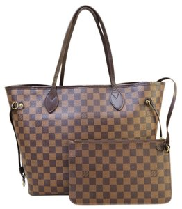 Louis Vuitton Lv Brand New Damier Ebene Mm Neverfull Shoulder Bag