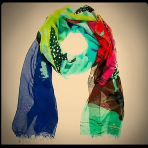 Kate spade scarves on sale up to 90 off at tradesy kate spade kate spade tropical sciox Image collections