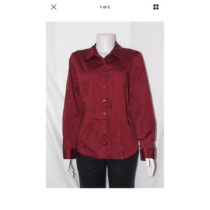 Van Heusen Button Down Shirt Wine Red