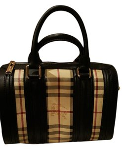 Burberry Alchester Leather Satchel in Plaid