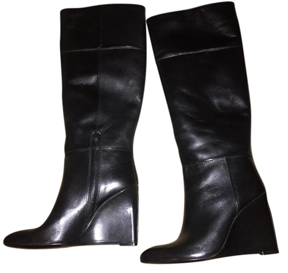 Tory Burch Black Black Burch Wedge Leather Boots/Booties 8a52b1