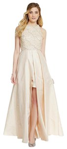 Adrianna Papell Hi Lo Taffeta Halter Gown Evening Dress
