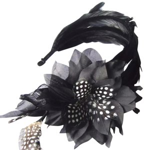 Colette Malouf Silk & Feather Headwear