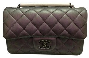 Chanel Mini Flap Iridescent Caviar Metallic Cross Body Bag