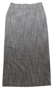 J.Crew Long Straight Ccolumn Wool Blend Maxi Skirt Gray