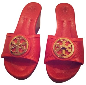 Tory Burch Coral red Wedges