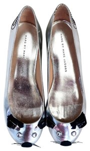 Marc by Marc Jacobs Ballerina Designer Silver Flats